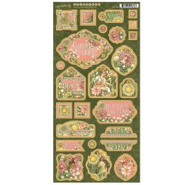 26 Chipboards 'Graphic 45 - Garden Goddess'