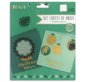 Kit carterie 'Toga - L'Or de Bombay' Vert et Or