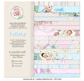Assortiment de 8 papiers doubles 30x30  'Lemoncraft - Lullaby'