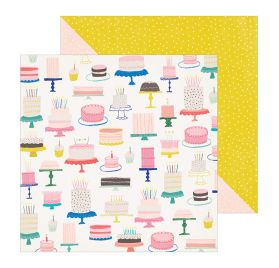 Papier double 30x30 'Crate Paper - Hooray' Cake