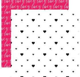 Papier double 30x30 'Webster's Pages - Love is in the air ' hearts