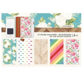 5 Autocollants pour couverture de carnet 'Webster's Pages' Backgrounds
