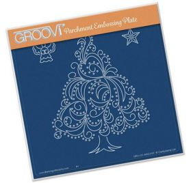 Plaque d'embossage pour Pergamano 'Groovi' Christmas Tree