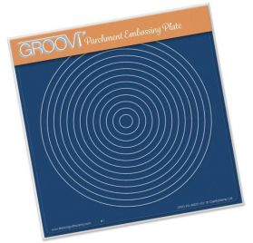 Plaque d'embossage pour Pergamano 'Groovi' Circle Nested