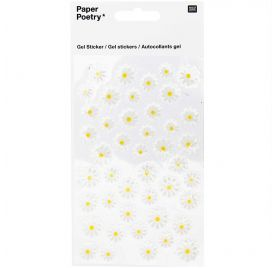 Autocollants Epoxy  'Rico Design - Paper Poetry' Paquerettes