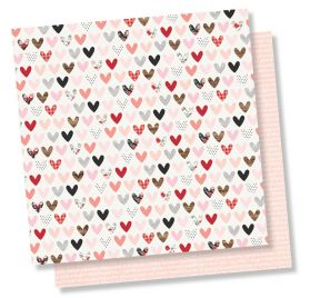 Papier double 30x30 'Simple Stories - Kissing Booth' Love Day