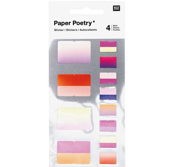 Autocollants 'Rico Design - Paper Poetry' Registres roses