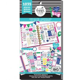 Bloc de 1035 autocollants 'Me & My Big Ideas - The Happy Planner' Mondaine