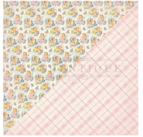 Papier double 30x30 'Authentique - Swaddle Girl' Five