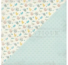 Papier double 30x30 'Authentique - Swaddle Boy' Three