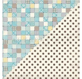 Papier double 30x30 'Authentique - Swaddle Boy' One