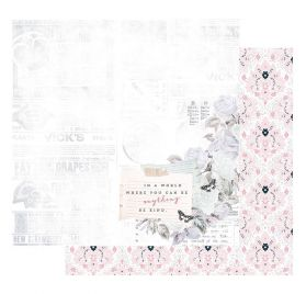 Papier double 30x30 'Prima - Poetic Rose' Kindness Takes Over