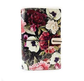 Couverture en cuir pour carnet B6 'Prima - Traveler's Journal' Midnight Garden