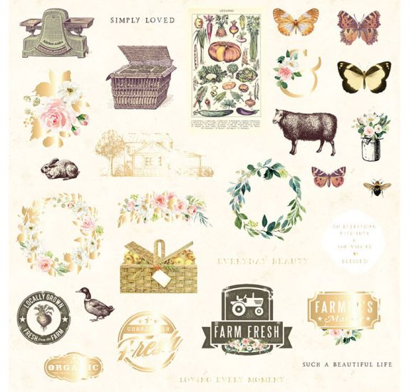 29 Die-cuts 'Prima - Spring Farmhouse' Ephemera