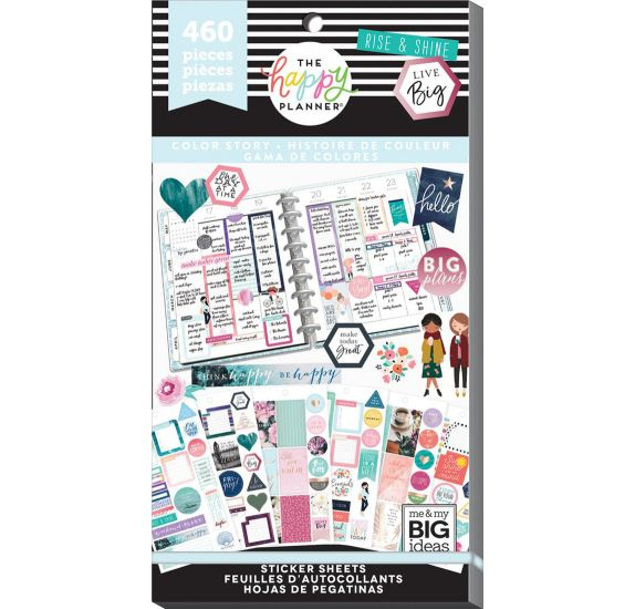 Bloc de 460 autocollants 'Me & My Big Ideas - The Happy Planner' Color Story 2
