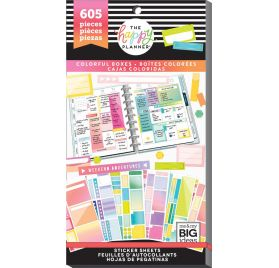 Bloc de 605 autocollants 'Me & My Big Ideas - The Happy Planner' Color Blocks