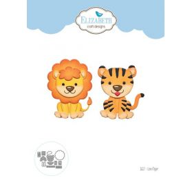 12 Dies/ Matrices de découpe 'Elizabeth Craft Designs' Lion/Tigre