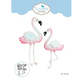 12 Dies/ Matrices de découpe 'Elizabeth Craft Designs' Flamants roses