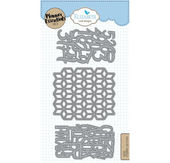 3 Dies/ Matrices de découpe 'Elizabeth Craft Designs - Planner Essentials' Planner Patterns