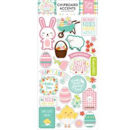 Chipboards autocollants 'Echo Park Paper - Easter Wishes'