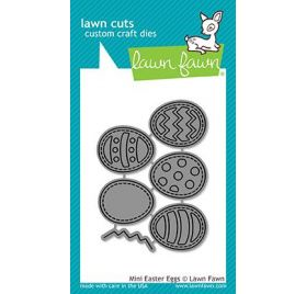 6 Dies / Matrices de découpe 'Lawn Fawn' Mini Easter Eggs