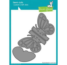 2 Dies / Matrices de découpe 'Lawn Fawn' Pop-Up Butterfly