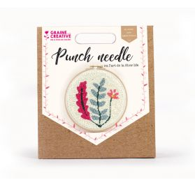 Kit Punch Needle 'Graine Créative by PW' Végétal 20 cm