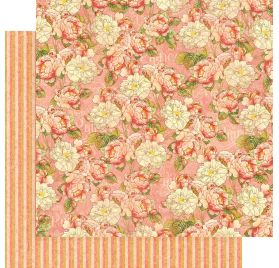 Papier double 30x30 'Graphic 45 - Princess' Roses for Royalty