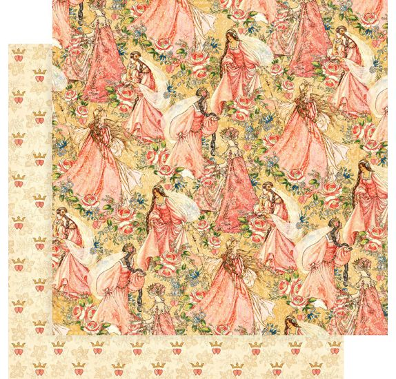 Papier double 30x30 'Graphic 45 - Princess' Pretty in Pink