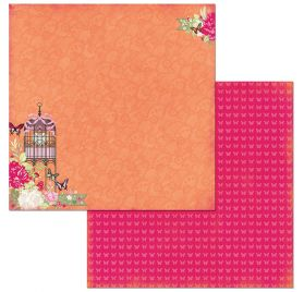Papier double 30x30 'BoBunny - Sweet Clementine' Sweet Clementine