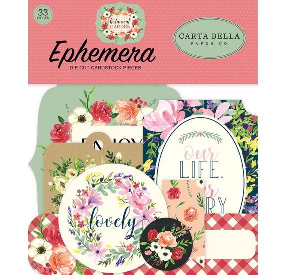 33 die-cuts 'Carta Bella - Botanical Garden' Ephemera