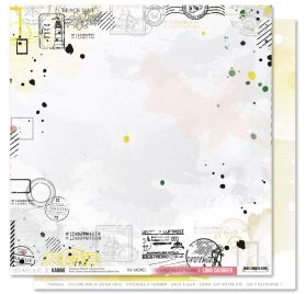 Papier double 30x30 'Les Ateliers de Karine - Long Courrier' H comme Hexagone