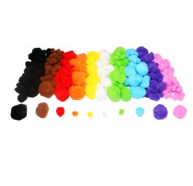 Lot de 300 pompons 'Feutrines by Sodertex' Multicolores
