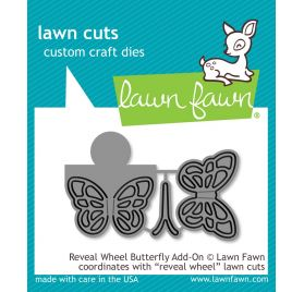 3 Dies / Matrices de découpe 'Lawn Fawn' Reveal Wheel Butterfly Add-On