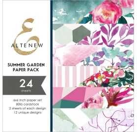 Assortiment  de 24 papiers doubles 15x15 'Altenew' Summer Garden