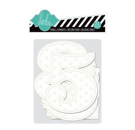 Embellissements jumbo numbers'Heidi Swapp - Color Magic