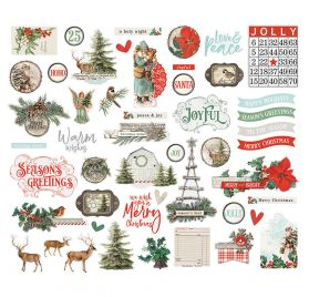 49 Die-cuts 'Simple Stories - Country Christmas' Ephemera Bits & Pieces