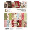 Assortiment de 24 papiers doubles 15 x 20 cm 'Simple Stories - Holly Jolly'
