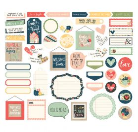 49 Die-cuts 'Simple Stories - So Happy Together' Journal Bits & Pieces