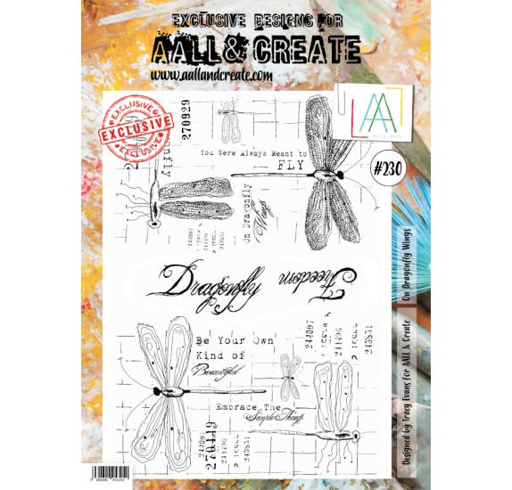 Tampons transparents 'AALL and Create' On Dragonfly Wings 230