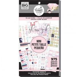 Bloc de 975 autocollants pour mini organiseur 'Me & My Big Ideas - The Happy Planner Girl' Glam Girl