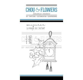 Tampons transparents 'Chou & Flowers - Holly Jolly' L'Horloge