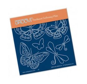 Plaque d'embossage pour Pergamano 'Groovi' Tina's Butterfly Fun