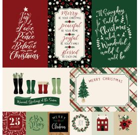 Papier double 30x30 ' Echo Park Paper - A Cozy Christmas' Journaling Cards
