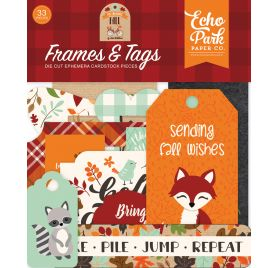 33 Die-cuts 'Echo Park Paper - My Favorite Fall' Cadres et Tags