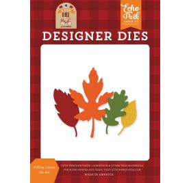 4 Dies / Matrices de découpe 'Echo Park Paper - My Favorite Fall' Falling Leaves