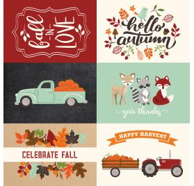 Papier double 30x30 ' Echo Park Paper - My Favorite Fall' 4x6 Journaling Cards