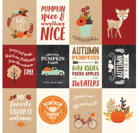 Papier double 30x30 ' Echo Park Paper - My Favorite Fall' 3x4 Journaling Cards