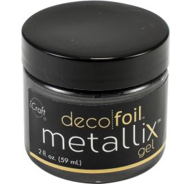 Pâte de texture 'Thermoweb - Deco Foil' Metallix Gel Noir 59 ml
