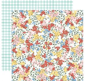 Papier double 30x30 'Carta Bella - Oh Happy Day' Tiny Floral